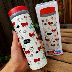 HELLO KITTY Stainless Steel Thermos Bottle NIB!